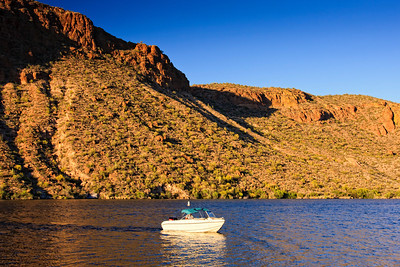 Boat on Arizona Lake