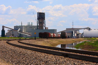 Potash Mine on Canadian Prairies