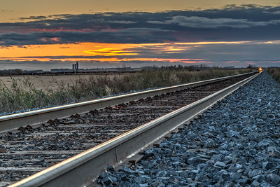 Railroad at Dusk