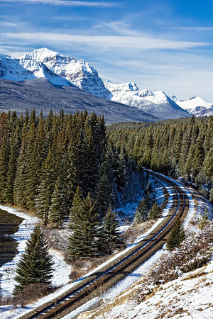 Railroad in the Rockies