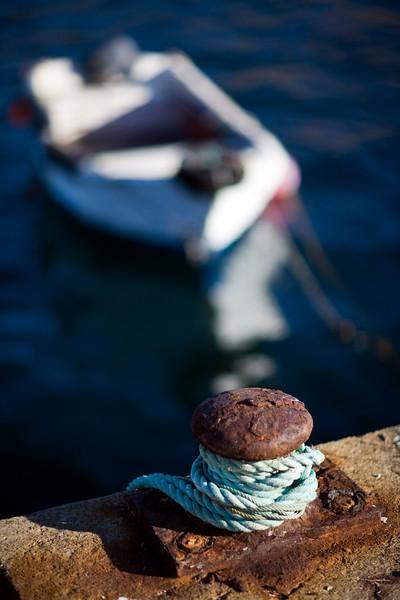 Rusted bollard, port of Sagres, municipality of Vila do Bispo, district of Faro, region of Algarve, southwestern Portugal