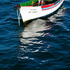 Moored boat, town of Sagres, municipality of Vila do Bispo, district of Faro, region of Algarve, southwestern Portugal