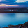The Guadiana river, border between Spain and Portugal, seen from Ayamonte, Huelva, Spain. High resolution panorama.