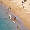 People on Mareta beach, town of Sagres, municipality of Vila do Bispo, district of Faro, region of Algarve, southwestern Portugal
