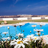 Swimming pool of Pousada Infante de Sagres Hotel, Town of Sagres, municipality of Vila do Bispo, district of Faro, region of Algarve, southwestern Portugal