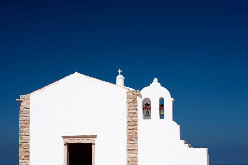 Nossa Senhora da Graça church, inside the fortress of Sagres, municipality of Vila do Bispo, district of Faro, region of Algarve, southwestern Portugal