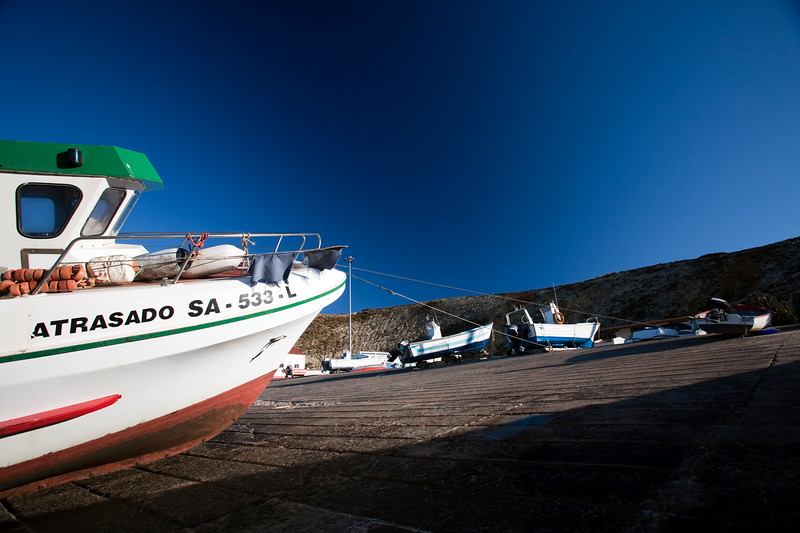 Boats in the fishing port, town of Sagres, municipality of Vila do Bispo, district of Faro, region of Algarve, southwestern Portugal