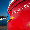 "A fishing boat called ""Graças a Deus"" (Thanks God), town of Sagres, municipality of Vila do Bispo, district of Faro, region of Algarve, southwestern Portugal"