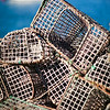 Lobster pots by the sea, town of Sagres, municipality of Vila do Bispo, district of Faro, region of Algarve, southwestern Portugal