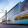 Tram arriving to Alexanderplatz, Berlin, Germany