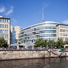 Modern buildings on the East bank of Spree river opposite the Museum Island, Berlin, Germany