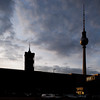 Silhouette of the Television and City Hall Towers, Berlin, Germany