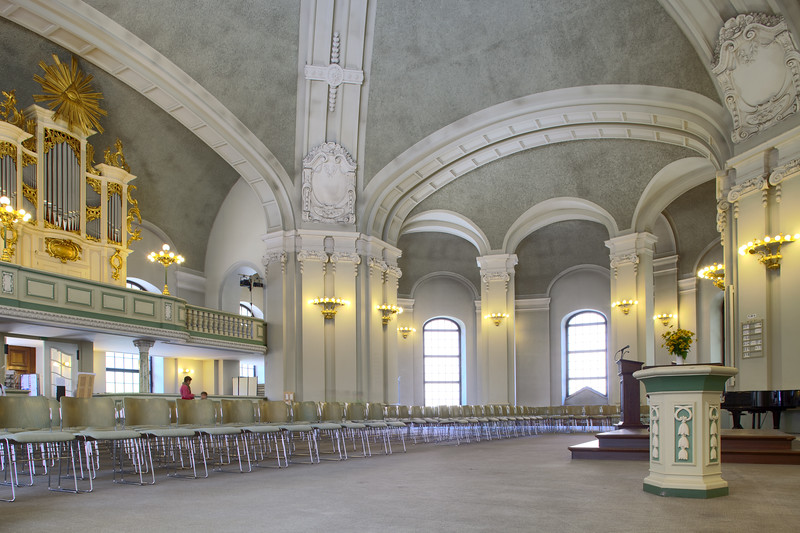 Interior of the French Cathedral (Französische Dom), Berlin, Germany