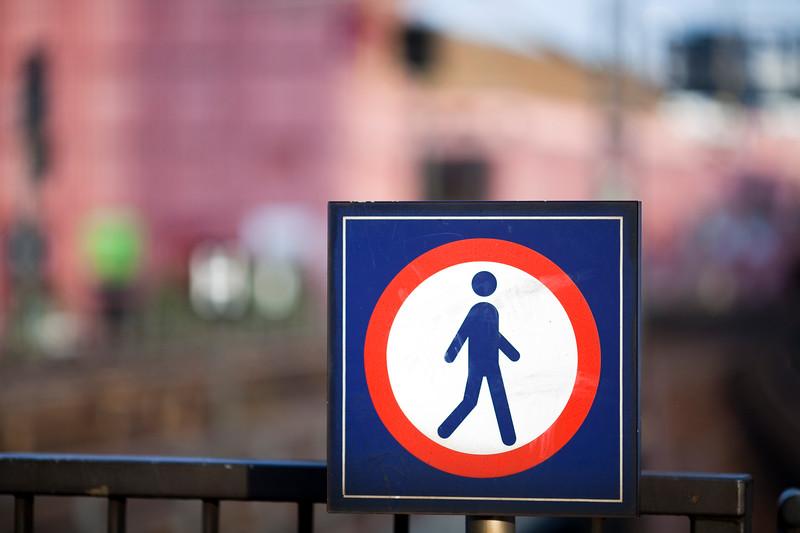 No pedestrian sign, Berlin, Germany