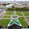 View of Lustgarten from the dome of the Cathedral, Berlin, Germany