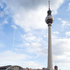 Fernsehturm (Television Tower) and Alexanderplatz railway station, Berlin, Germany
