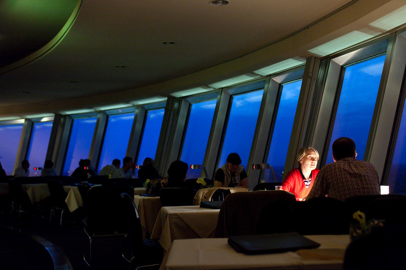Panoramic restaurant in the TV Tower, Berlin, Germany