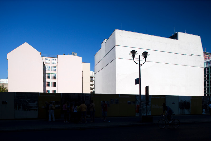 Rear side of buildings as seen from Friedrichstrasse, Berlin, Germany