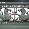 Mythological figures as ornament of Schlossbrücke (Palace Bridge) over the Spree river, Berlin, Germany