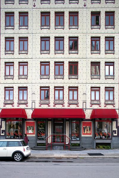 Facade of a building on Gendarmenmarkt square, Berlin, Germany
