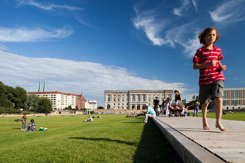 Kid at Schlossplatz, Berlin, Germany