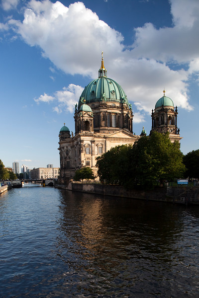 Berlin Cathedral from the Spree river, Berlin, Germany