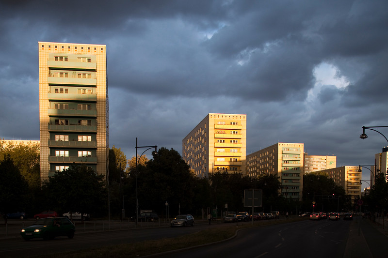Apartment building on Alexander street, in the former East Berlin, Germany