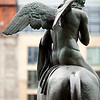 Bronze statue from the Konzerthaus (Concert Hall), Gendarmenmarkt square, Berlin, Germany