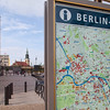 Street map of Berlin mitte district on Alexanderplatz, Berlin, Germany