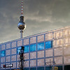 The Television Tower as seen from Alexander street, Berlin, Germany
