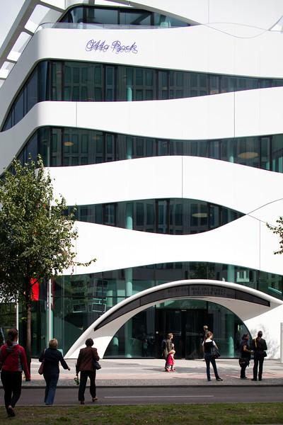 Otto Bock science center medical technology building on Ebert street, Berlin, Germany