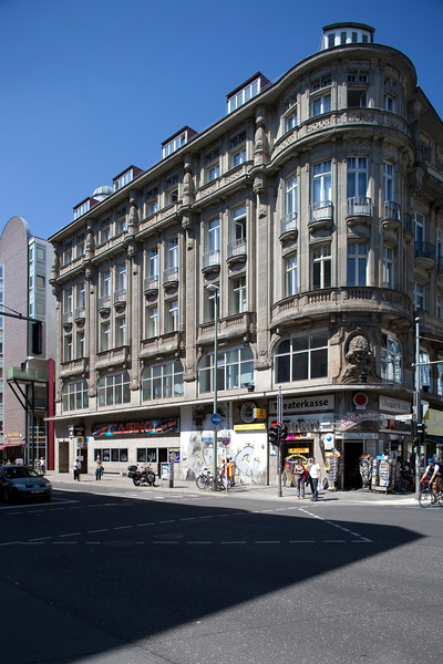 Building on the corner of Kochstrasse and Friedrichtrasse, Berlin, Germany