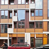 Modern apartment building on Auguststrasse, Berlin, Germany