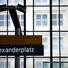 Sign of Alexanderplatz railway station, Berlin, Germany
