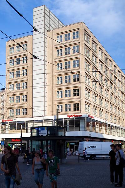 Building on the southeastern corner of Alexanderplatz, Berlin, Germany
