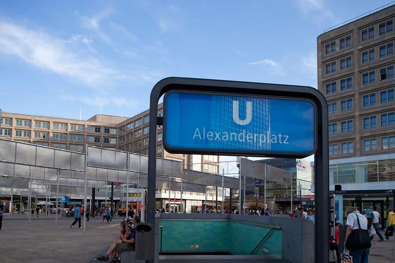 Underground entrance at Alexanderplatz, Berlin, Germany