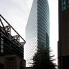 DB Tower as seen from Sony Center, Berlin, Germany