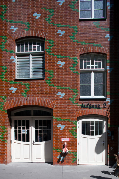 First courtyard glazed tiles, in Art Nouveau style, from the Hackeschen Höfe, Berlin, GermanyBerlin, Germany
