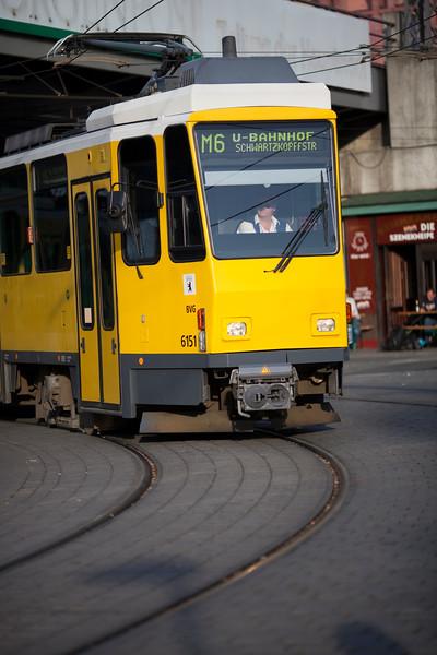 Tram at Alexanderplatz, Berlin, Germany