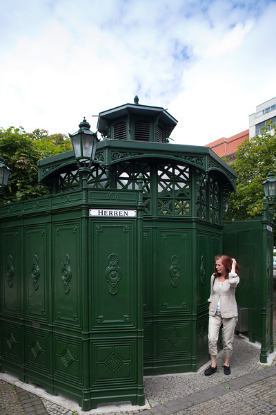 Vintage public toilette on Gendarmenmarkt, Berlin, Germany