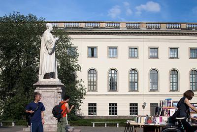 Yard at the Humboldt University main entrance, Berlin, Germany