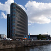 Modern building by Weidendammer bridge, Berlin, Germany