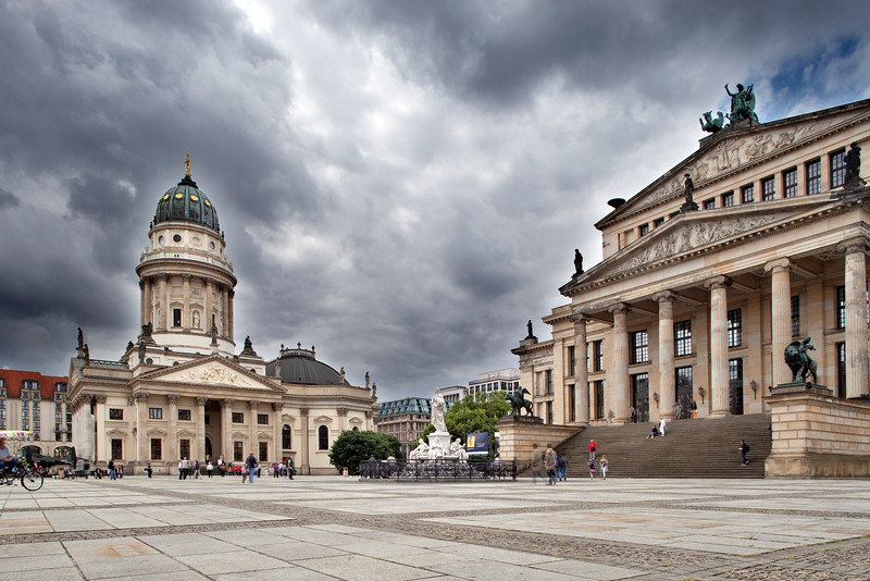 Deutsche Dom (German Cathedral, left) and Konzerthaus (Concert Hall, right), Gendarmenmarkt square, Berlin, Germany