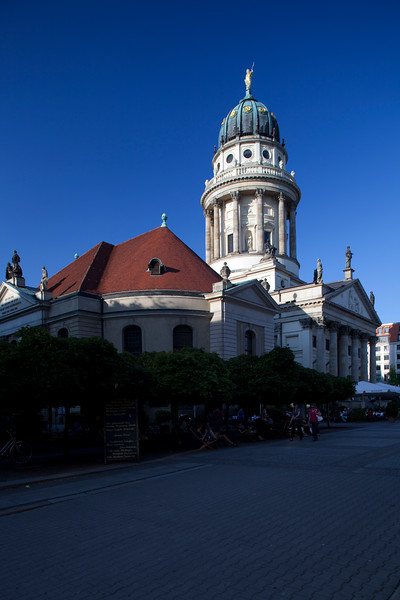 The French Cathedra as seen from Französischestrasse, Berlin, Germany