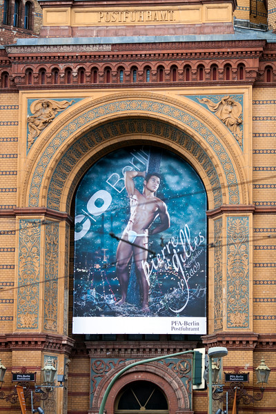 Poster of a photo exhibition by Pierre et Gilles, Postfuhramt, Berlin, Germany