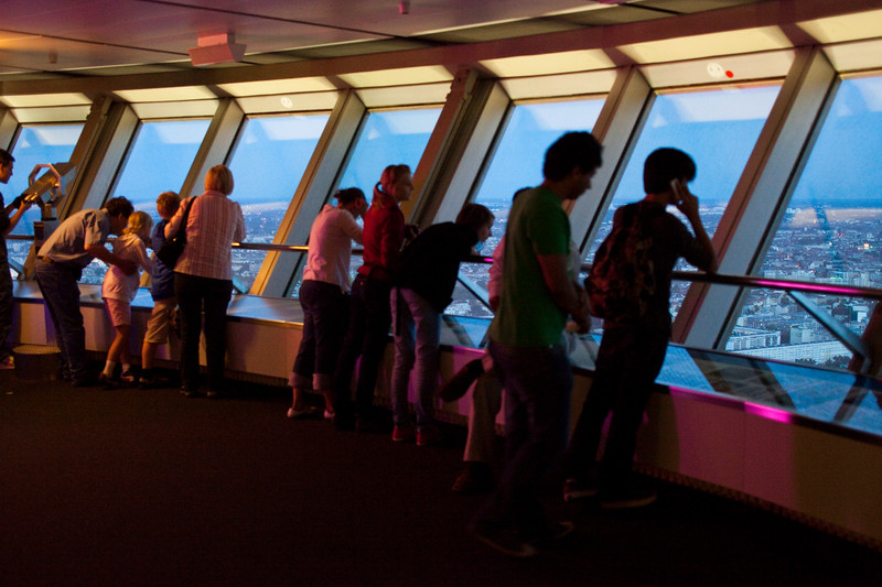 Visitors looking at Berlin from the TV Tower, Germany