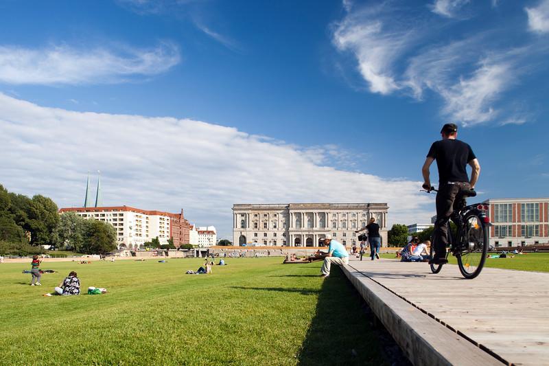 People at Schlossplatz, Berlin, Germany