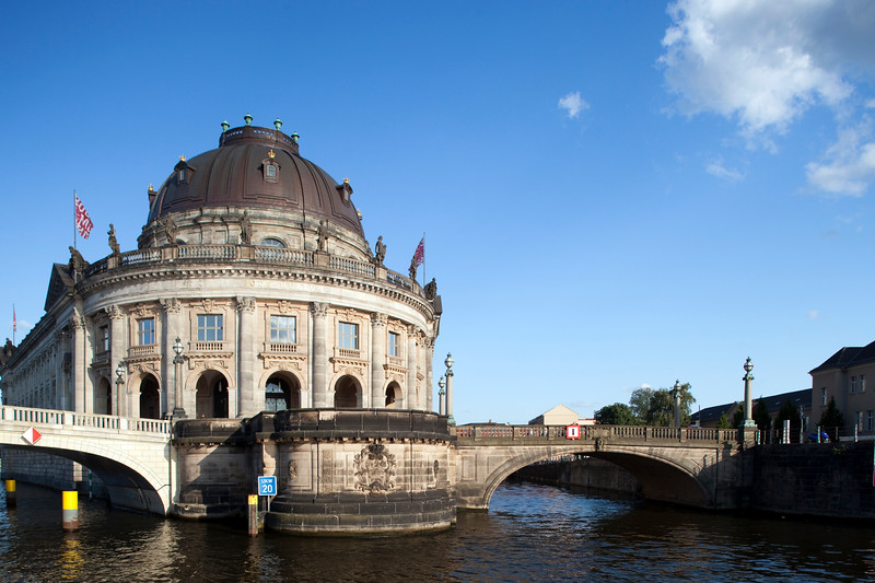 Bode Museum from the Spree river, Berlin, Germany