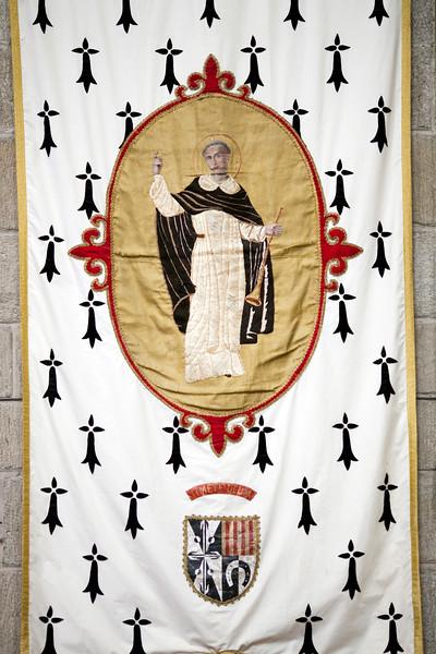 Standard of Saint Vincent Ferrer, Saint Pierre Cathedral, Vannes, department of Morbihan, region of Brittany, France
