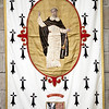 Standard of Saint Vincent Ferrer, Saint Pierre Cathedral, Vannes, department of Morbihan, region of Brittany, France
